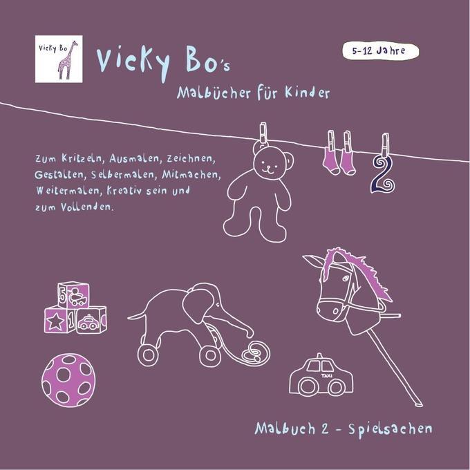Malbuch Spielsachen als Buch