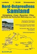 Landkarte Nord-Ostpreußens Samland 1 : 100 000