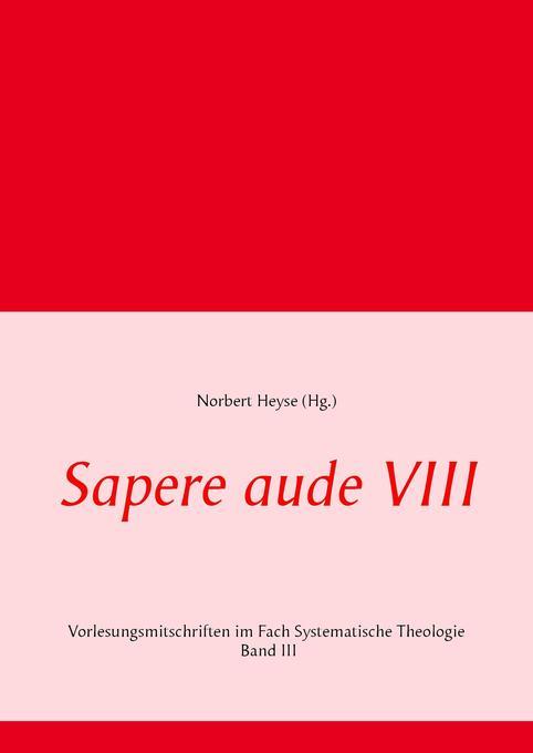Sapere aude VIII als Buch von