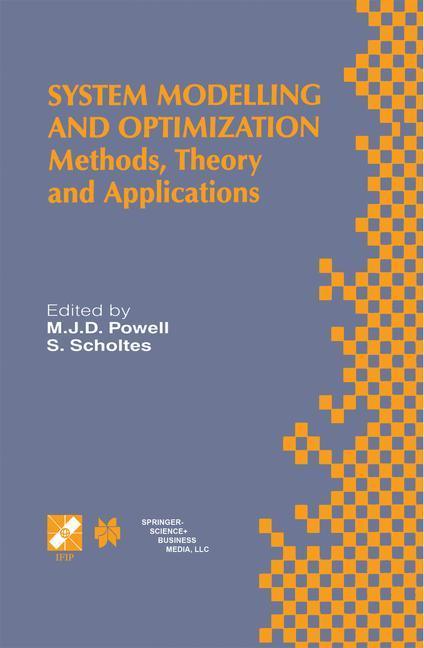 System Modelling and Optimization als Buch von