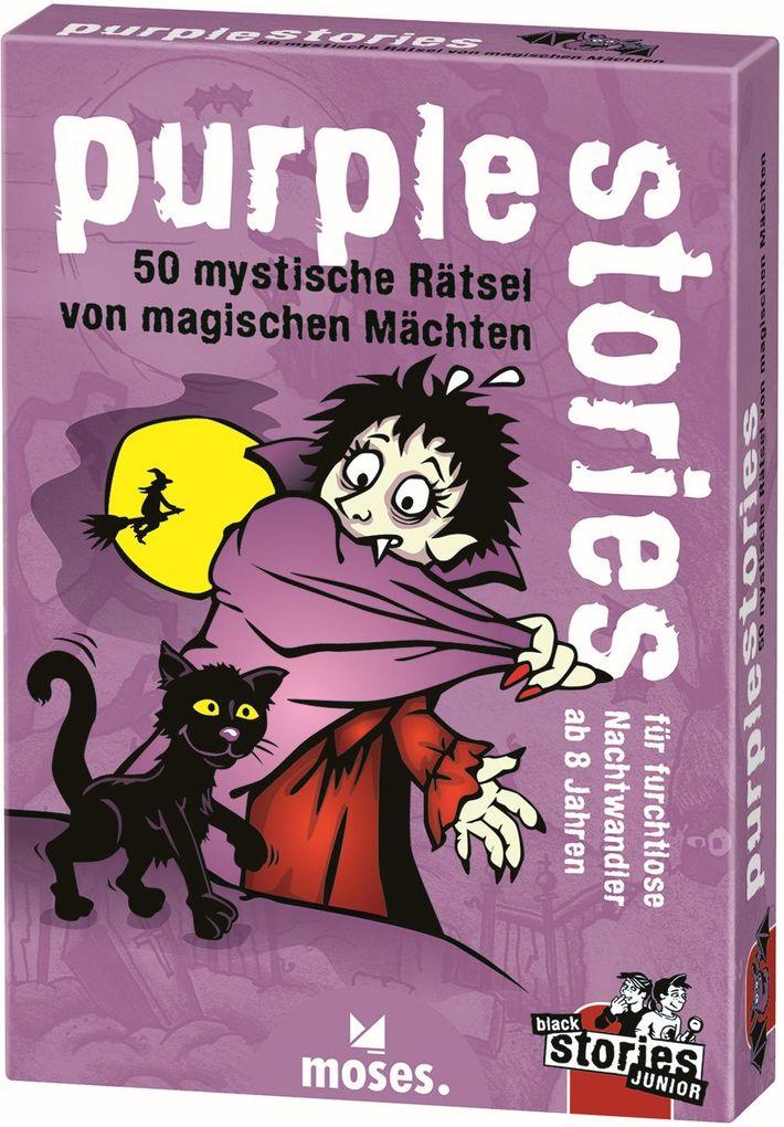 Image of Moses MOS00802 - Purple stories, 50 magische Räsel von magischen Mächten, Junior, Kartenspiel, Familienspiel