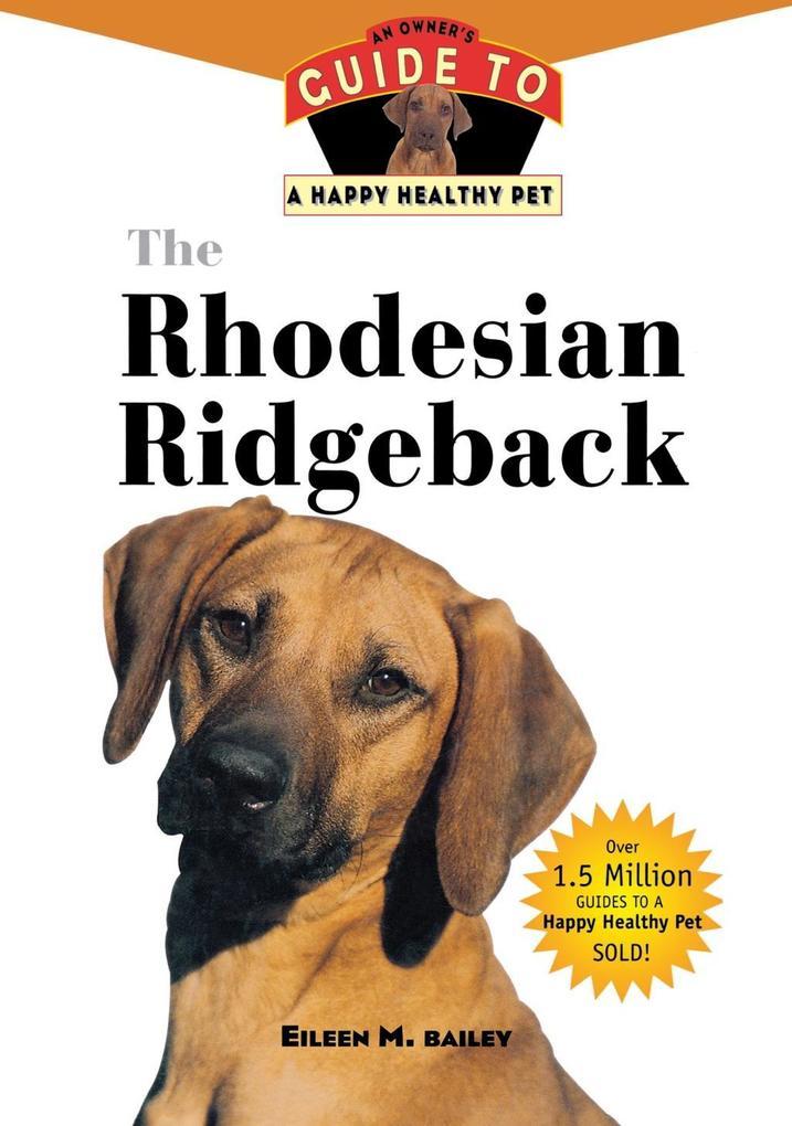 The Rhodesian Ridgeback als eBook Download von ...