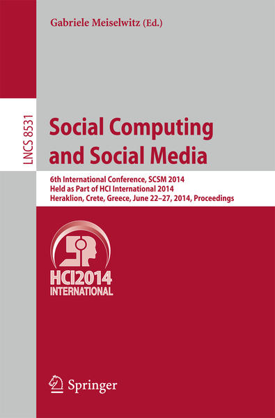 Social Computing and Social Media als Buch von