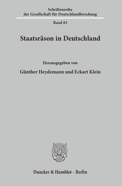 Staatsräson in Deutschland als Buch (kartoniert)