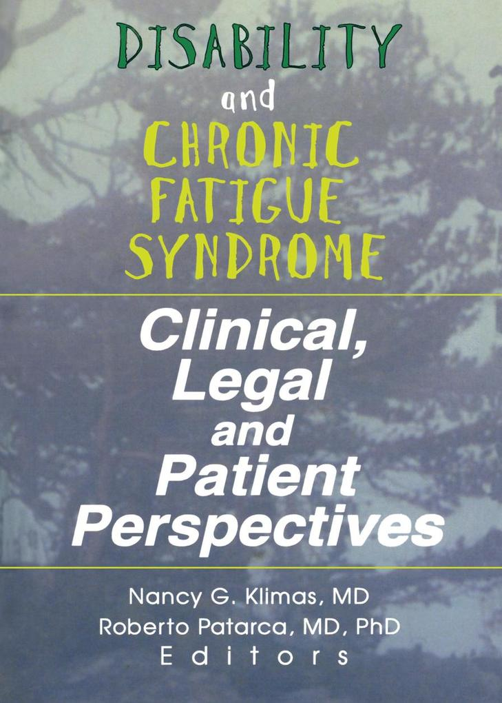 Disability and Chronic Fatigue Syndrome als eBo...