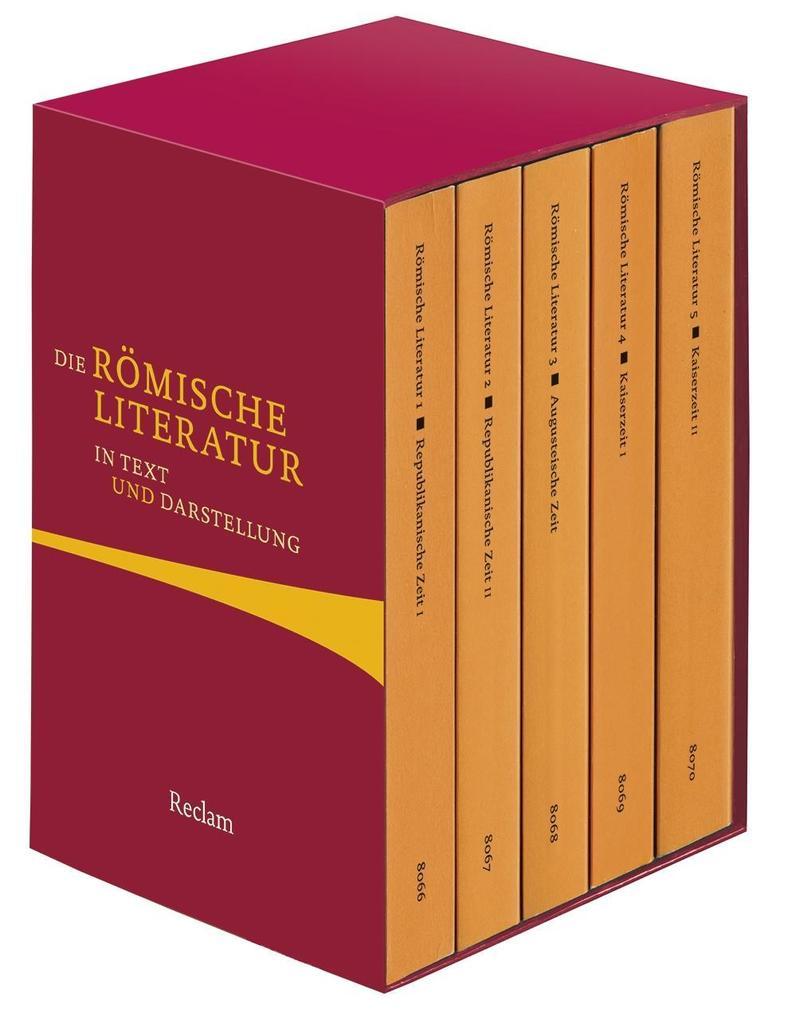 Die römische Literatur in Text und Darstellung. Fünf Bände in Kassette als Taschenbuch
