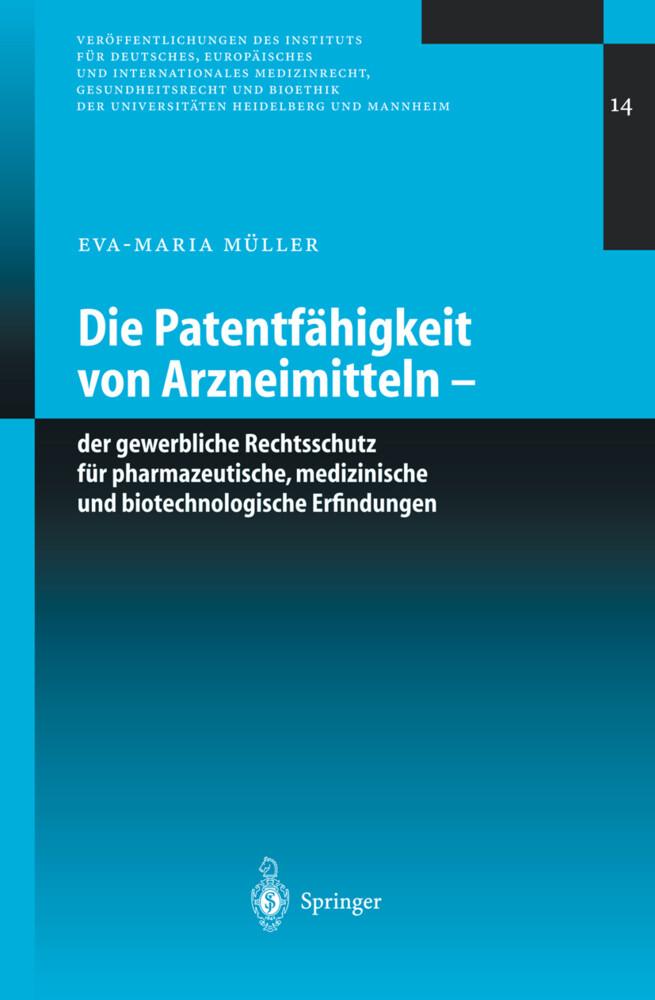 Die Patentfähigkeit von Arzneimitteln als Buch