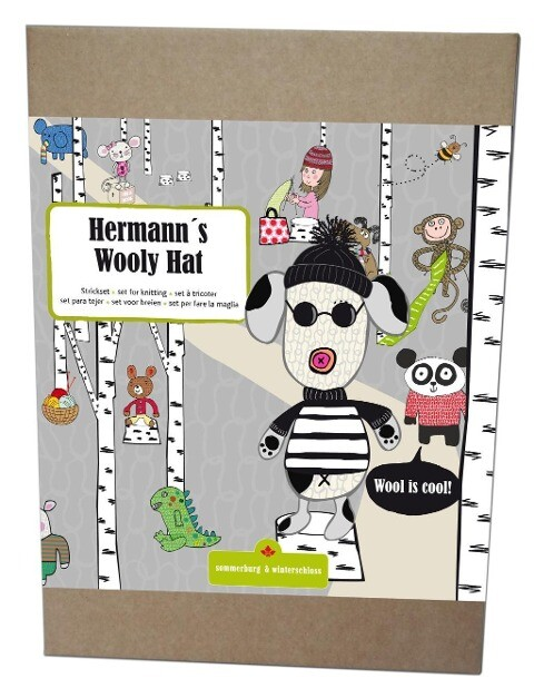 Hermanns Wooly Hat schwarz