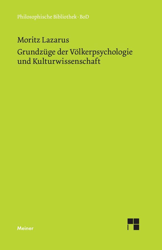 Grundzüge der Völkerpsychologie und Kulturwissenschaft als Buch