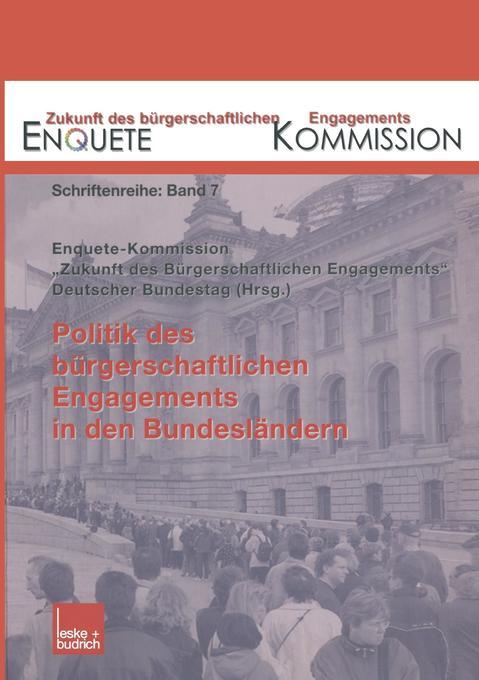 Politik des bürgerschaftlichen Engagements in d...
