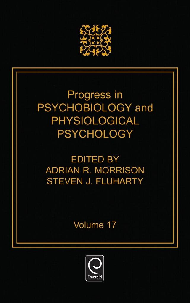 Progress in Psychobiology and Physiological Psychology als Buch