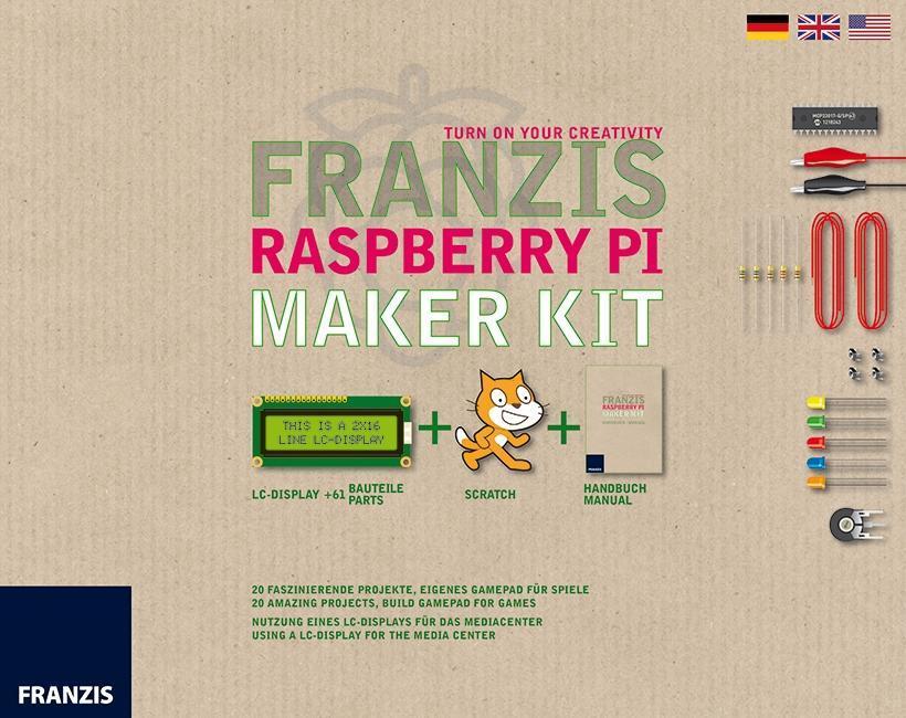 Franzis Raspberry Pi Maker Kit, LC-Display und ...