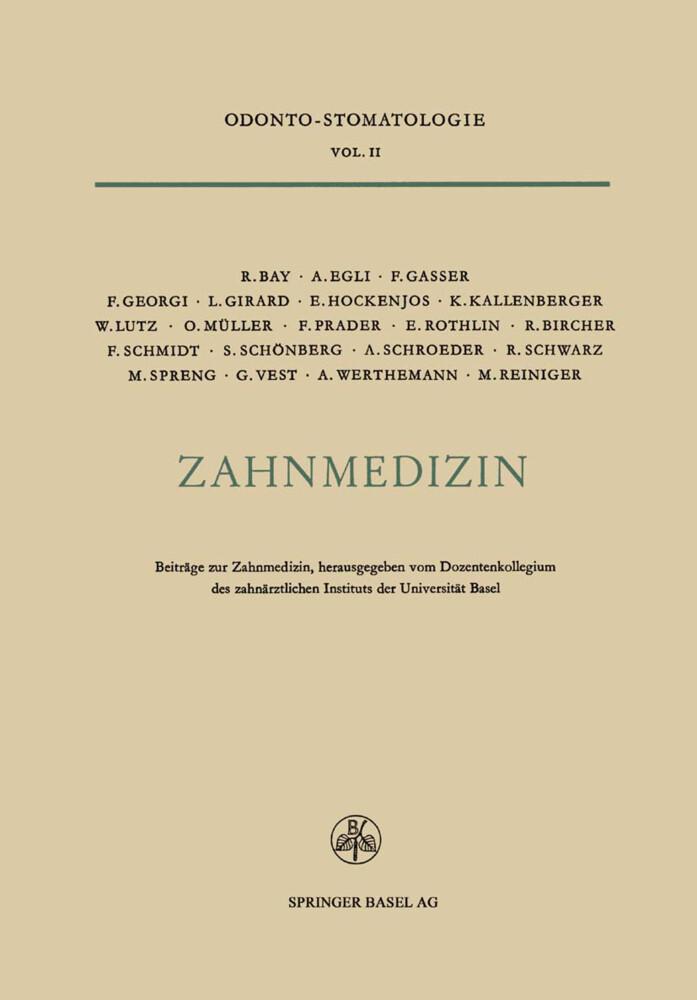 Zahnmedizin als Buch von Roland Bay, R. Bircher...