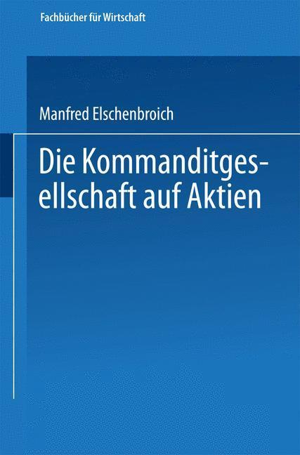 Die Kommanditgesellschaft auf Aktien als Buch v...