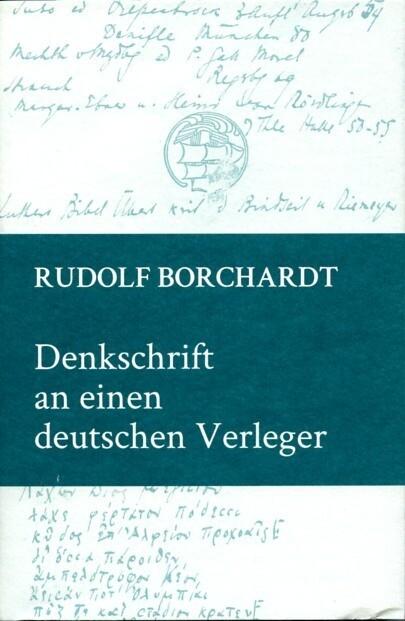 Denkschrift an einen deutschen Verleger als Buch