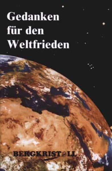 Gedanken für den Weltfrieden als Buch