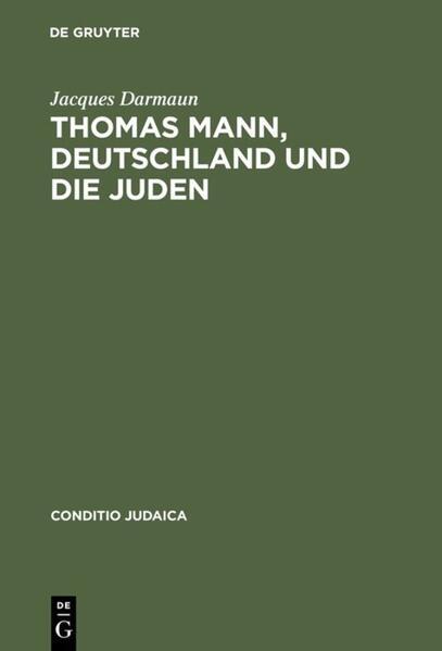 Thomas Mann, Deutschland und die Juden als Buch