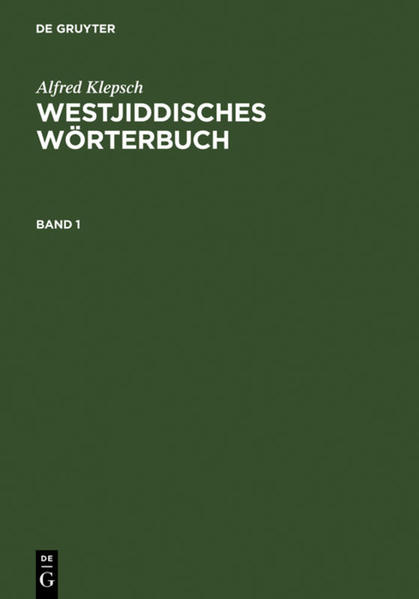 Westjiddisches Wörterbuch als Buch