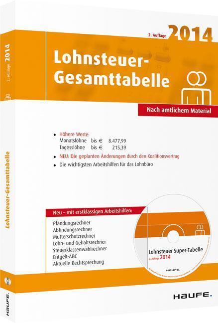 Lohnsteuer-Gesamttabelle 2014 als Buch von