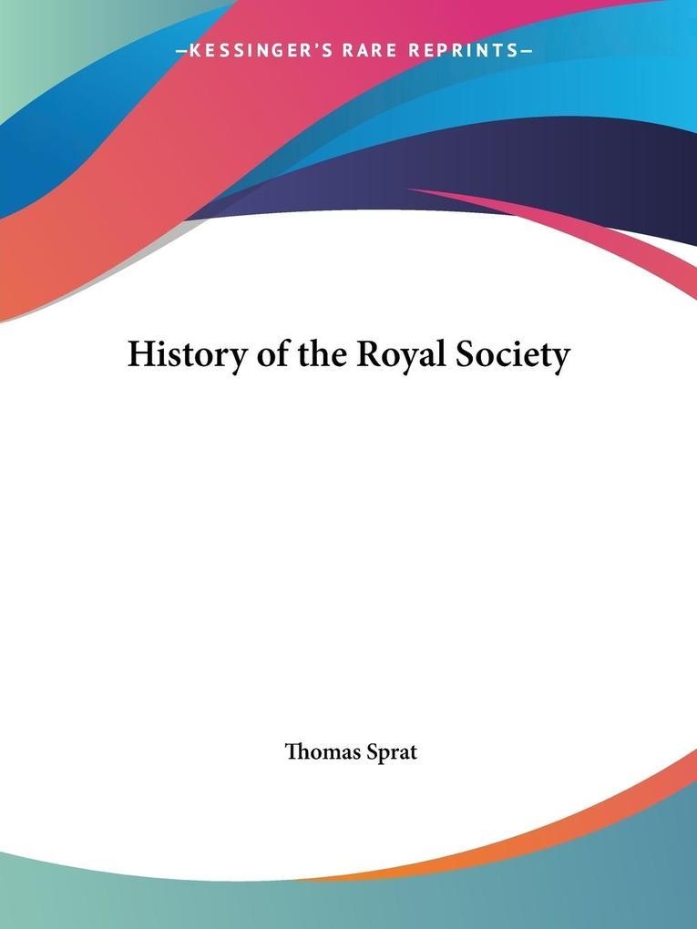 History of the Royal Society als Taschenbuch