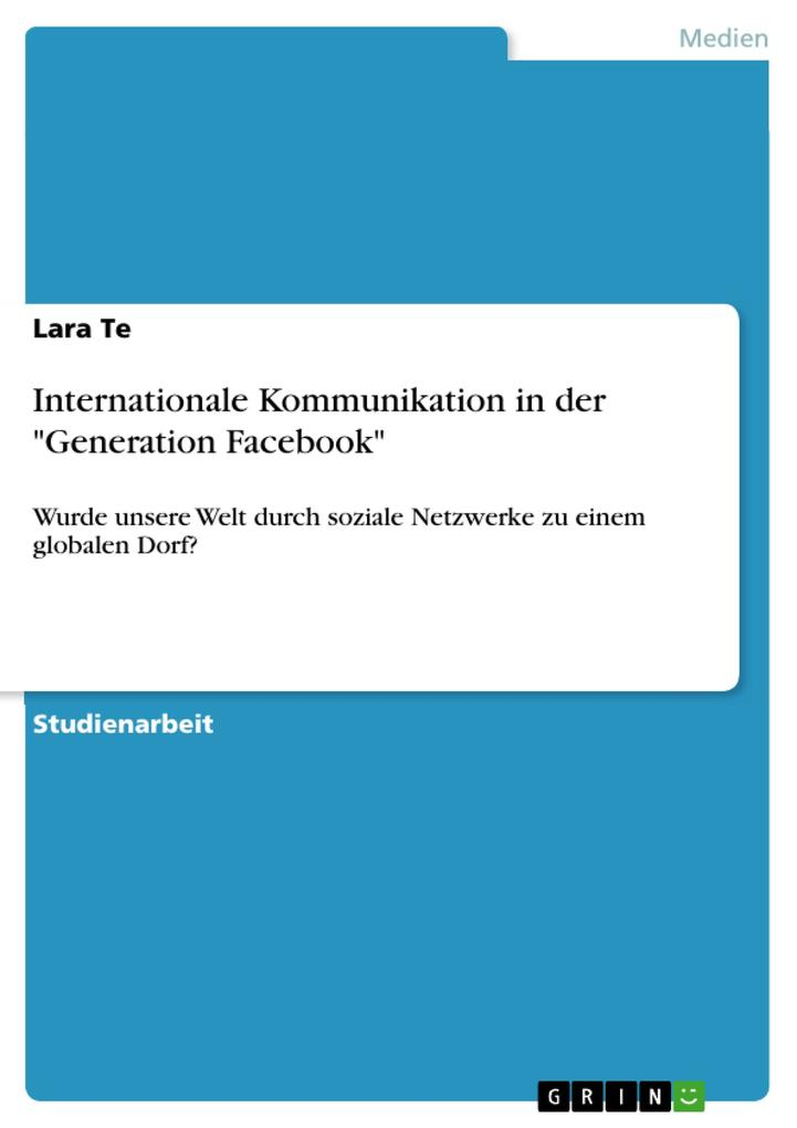Internationale Kommunikation in der Generation ...