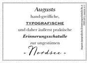 Augusts Erinnerungsschatulle Nordsee