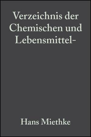 Verzeichnis der Chemischen und Lebensmittel- Un...