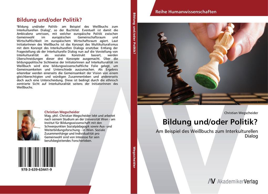 Bildung und/oder Politik? als Buch von Christia...