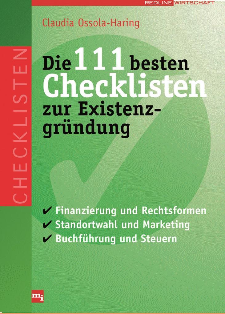 Die 111 besten Checklisten zur Existenzgründung...
