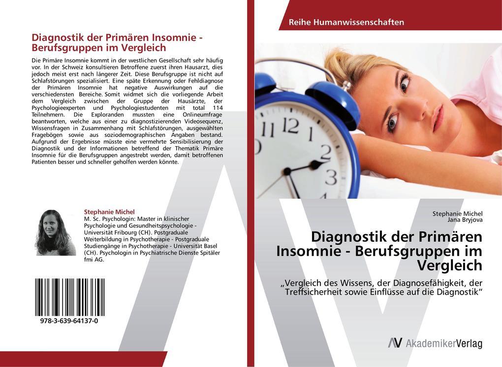 Diagnostik der Primären Insomnie - Berufsgruppe...