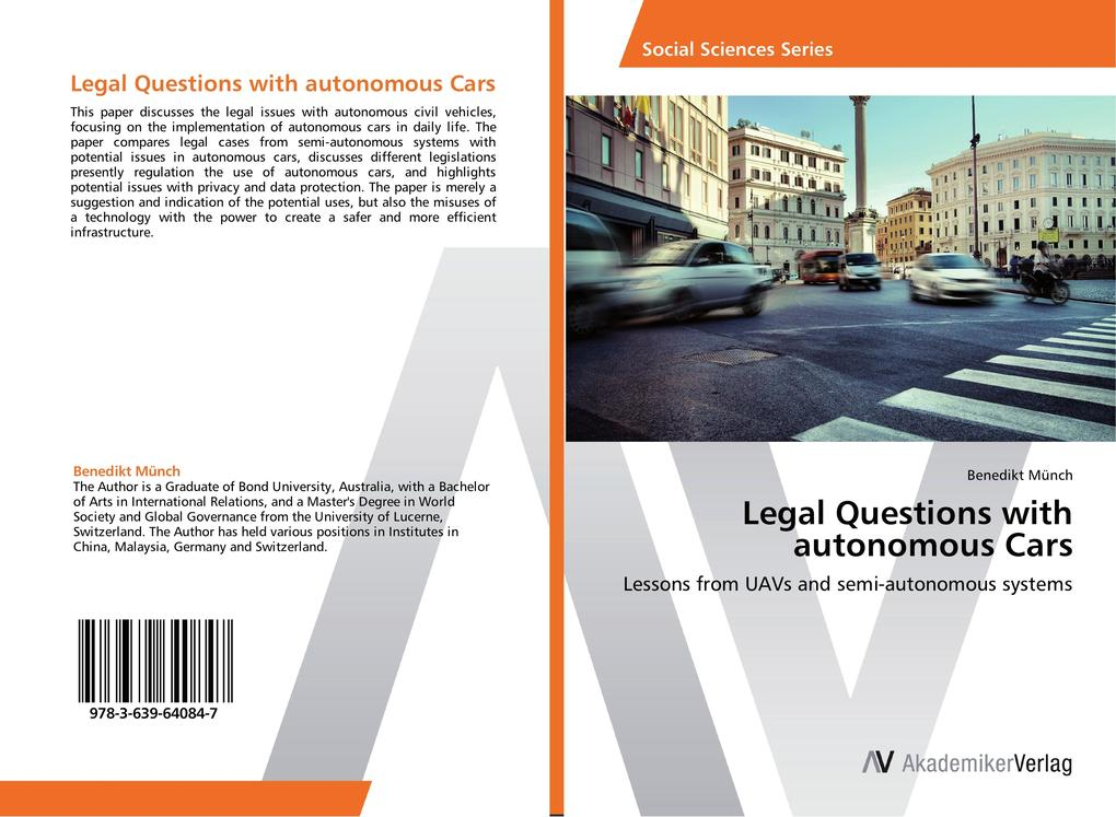 Legal Questions with autonomous Cars als Buch v...