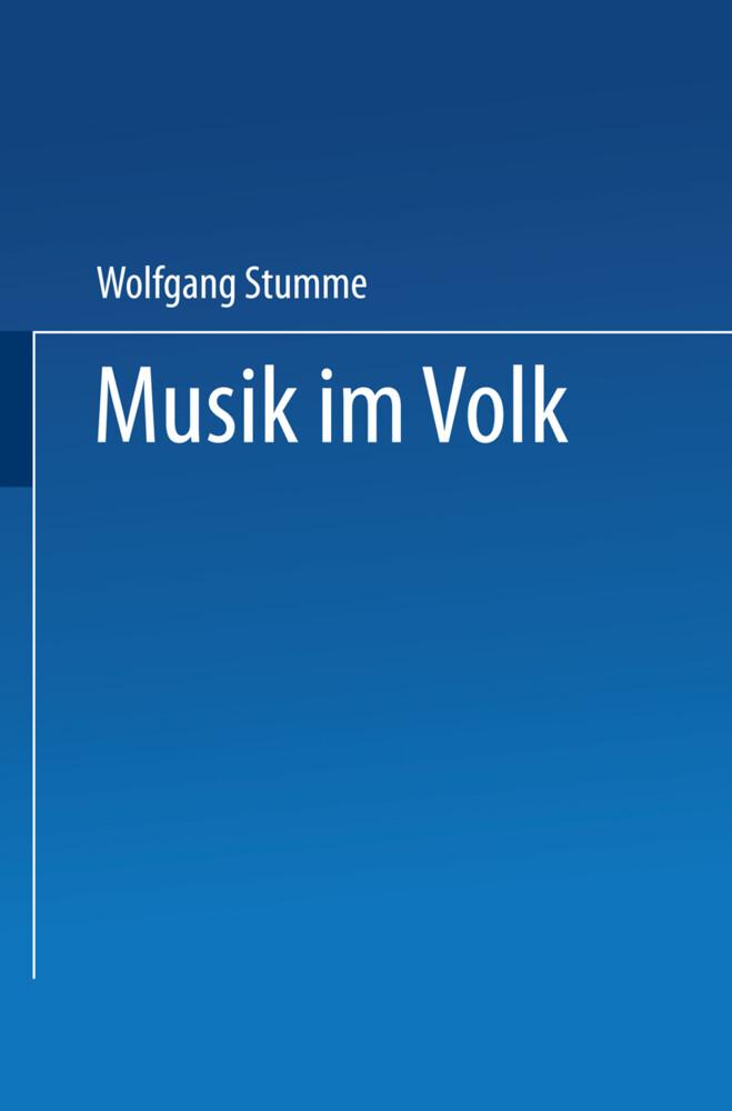 Musik im Volk als Buch von Wolfgang Stumme