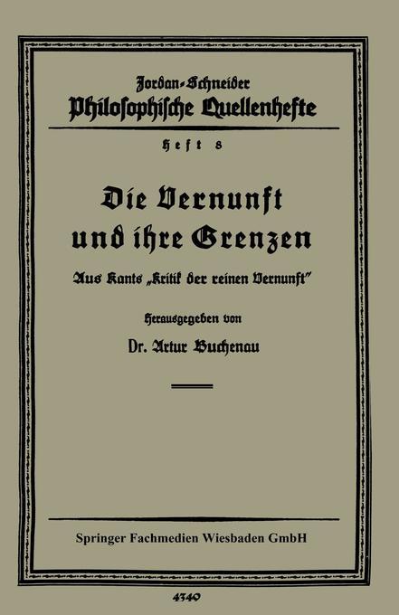 Die Vernunft und ihre Grenzen als Buch von Artu...