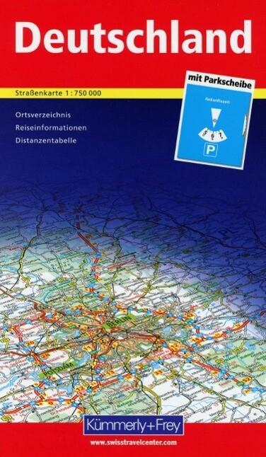 KuF Deutschland Straßenkarte 1 : 750 000 als Bu...