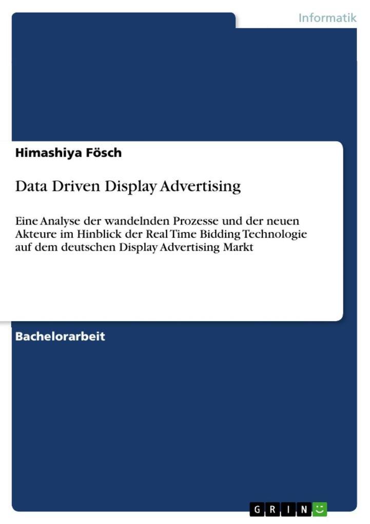 Data Driven Display Advertising als eBook Downl...