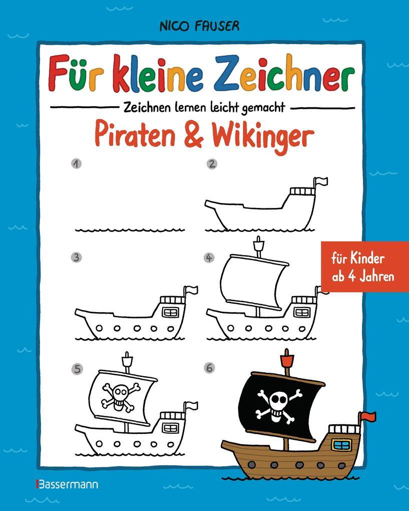 Für kleine Zeichner - Piraten & Wikinger als eBook