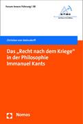"""Das """"Recht nach dem Kriege"""" in der Philosophie Immanuel Kants"""