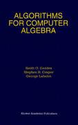 Algorithms for Computer Algebra
