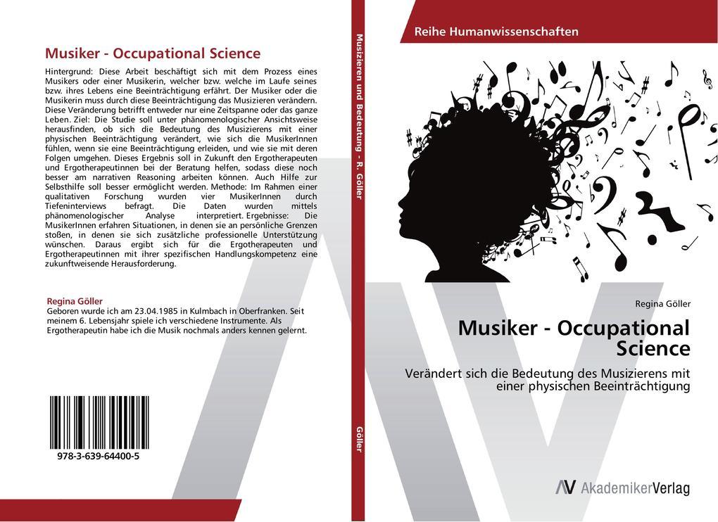 Musiker - Occupational Science als Buch von Reg...