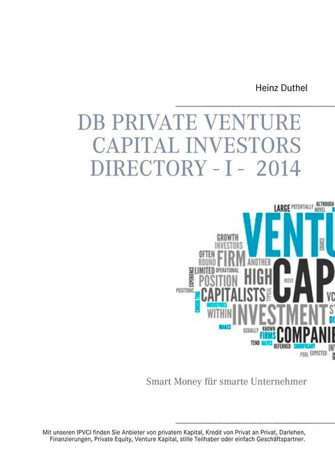 DB Private Venture Capital Investors Directory I - 2014 als Buch