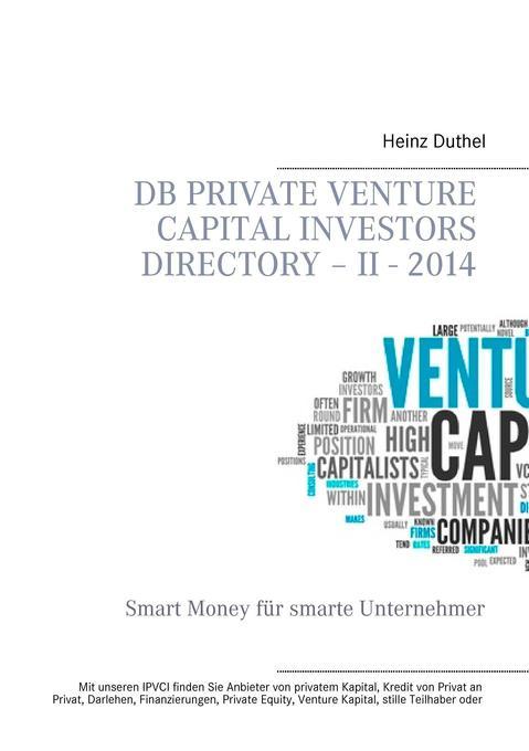 DB Private Venture Capital Investors Directory - II - 2014 als Buch