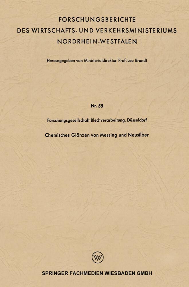 Chemisches Glänzen von Messing und Neusilber al...