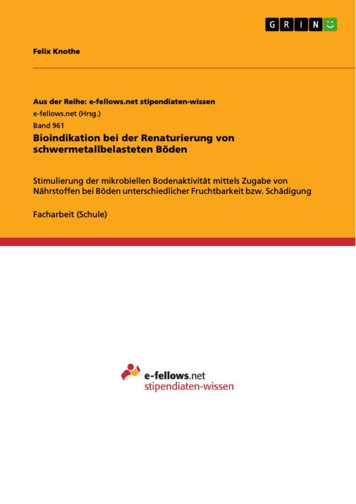 Bioindikation bei der Renaturierung von schwerm...