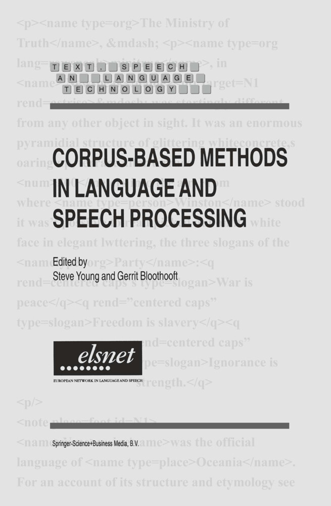 Corpus-Based Methods in Language and Speech Processing als Buch