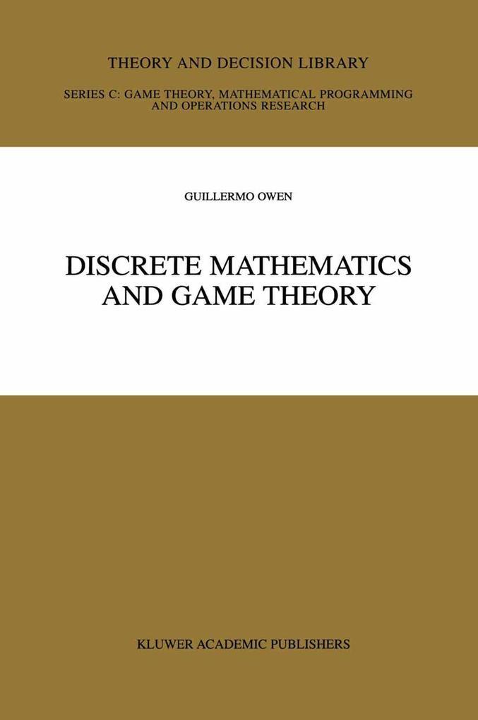 Discrete Mathematics and Game Theory als Buch