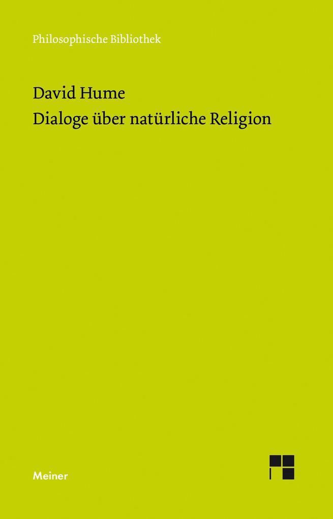 Dialoge über natürliche Religion als Buch