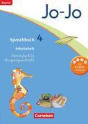 Jo-Jo Sprachbuch - Grundschule Bayern. 4. Jahrgangsstufe - Arbeitsheft in Vereinfachter Ausgangsschrift