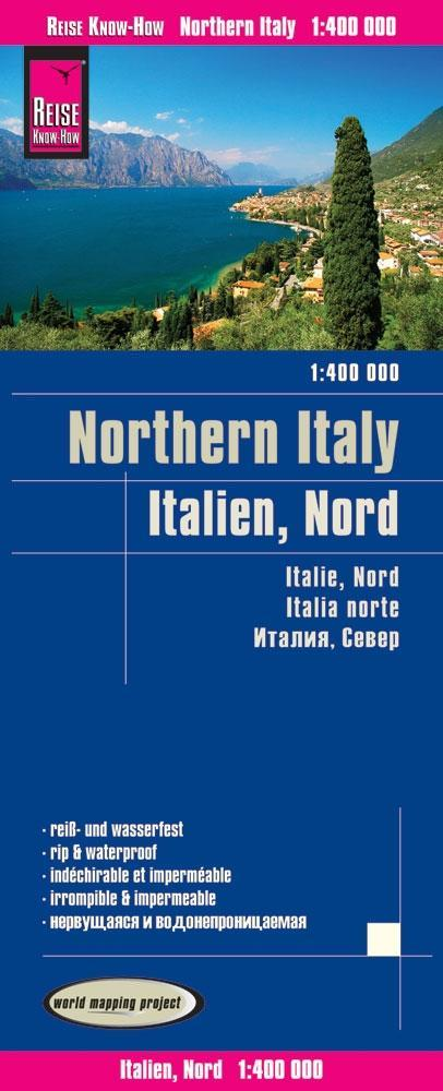 Reise Know How Landkarte Italien Nord Northern Italy 1 400 000