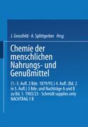 Chemie der menschlichen Nahrungs- und Genussmittel