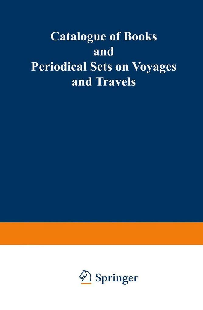 Catalogue of Books and Periodical Sets on Voyag...